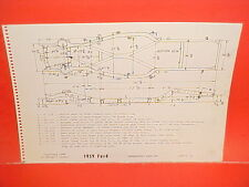 1959 FORD FAIRLANE 500 SKYLINER RETRACTABLE CONVERTIBLE FRAME DIMENSION CHART