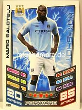 Match Attax 2012/13 Premier League - #125 Mario Balotelli - Manchester City