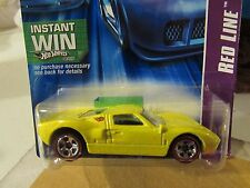 Hot Wheels Ford GT-40 Red Line Yellow Instant Win card