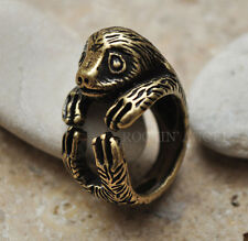 Vintage Bronze Plt Sloth Ring  / Thumb Ring Adjustable Men Ladies Gift Wildlife