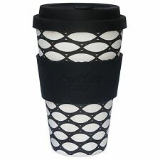 Ecoffee Cup 400ml 14oz Reusable BPA Free Bamboo Tea Coffee Travel Mug Basketcase