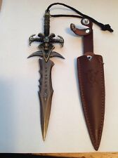 Collectable Miniature Fantasy Sword Letter Opener With Leather Holster. No.4