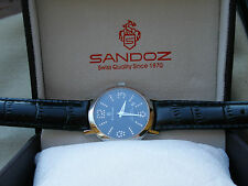 NEW OLD STOCK, NICE RARE  SANDOZ , ALL SWISS MADE,1989, ETA SWISS  QUARTZ, BOX !