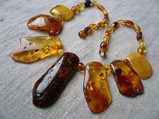 18,1 IN Exclusive Huge Genuine Multicolor Baltic Amber Necklace
