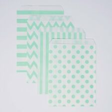 48 Polka Dot Chevron Stripe Mint and White Food Candy Treat Party Favor Bags 5x7