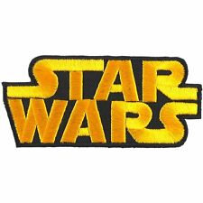 Star Wars Embroidered Logo patch Iron Sew on backing 3.5 x 1.5""