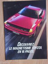 Toyota Programm (u.a. Starlet, Corolla, Celica, MR2, Model F), Prospekt, B