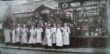 PRINT 10 X 7  J H WARR SADLER & HARNESS MAKERS - WORKERS OUTSIDE SHOP IN GUN STR