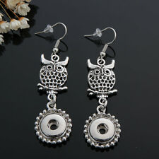 12MM Fashion silver color Drill Earrings Fit For Noosa Charm Snap Button