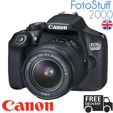 Canon 1300d EOS 18.0mp DSLR Camera Nero & - S 18-55mm EF DC Lente UK STOCK III