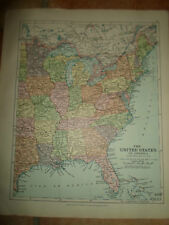 MAP c1920 THE USA EASTERN  From Stanfords London Atlas of Universal Geography
