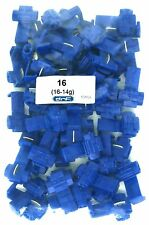 50 PACK 16-14 GAUGE BLUE QUICK SPLICE WIRE TERMINAL CONNECTOR - 100% COPPER