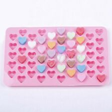 Silicone 55 Heart Cake Mold Ice Cube Soap Jelly Tray Baking Mould Chocolate Tool