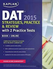 Kaplan DAT 2015 Strategies, Practice, and Review with 2 Practice Tests-ExLibrary