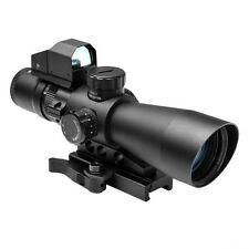 NcStar Mark III Tactical STP3942GDV2 P4 Reticle 3-9X42 Scope with Red Dot Sight!