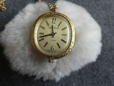 Vintage Andre Rivalle  Wind Up Necklace Pendant Watch - Pretty!