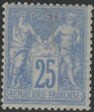 """FRANCE STAMP TIMBRE N° 78 """" TYPE SAGE 25c OUTREMER """" NEUF x TTB RARE  J799"""