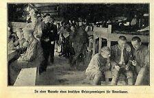 Deutsches Gefangenenlager-Baracke für US-Soldaten Historische Aufnahme von 1918