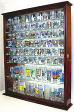 110 Shot Glass Display Case Wall Cabinet with door, Mirrored Back. SC09-MA