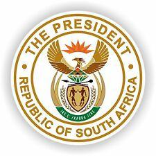 South Africa Republic President Seal Sticker bumper decal Car Helmet Door Laptop