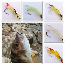 1x 10cm Soft Silicone Live Giant Prawn Shrimp Fishing Lure Hook Bait Tackle Bass