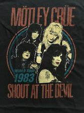 MOTLEY CRUE cd lgo VINTAGE SHOUT AT THE DEVIL 1983 #2 Official SHIRT XXL 2X new