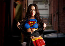 Sexy Hot Megan Fox in superman t-shirt / superwoman A3 260GSM