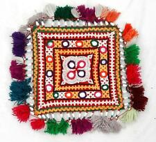 VINTAGE RABARI FINE HAND EMBROIDERY MIRROR OLD ETHNIC TRIBAL BEADED PATCHES
