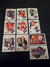 1991-92 Upper Deck Hockey Heroes Brett Hull Set #1-9 + SP Header