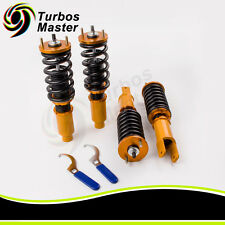 Coilover Shock Absorber Suspension For Honda Civic EK EJ 96-00 Adj Height Golden