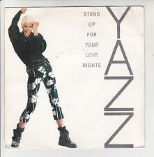"YAZZ Vinyl 45T 7"" STAND UP FOR YOUR LOVE RIGHTS - INDISC BLR 30 F Rèduit RARE"
