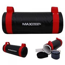 HTH 10kg Filled Power Sand Bag Gym Strength Training MMA Boxing Crossfit Fitness