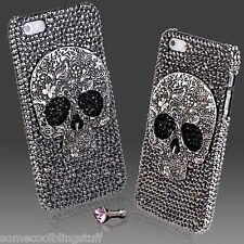 FOR iPhone 4 4s COOL LUXURY 3D BLING DIAMOND SKULL DESIGNER DIAMANTE CASE COVER
