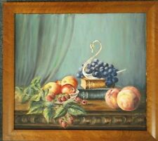 FRAMED OIL ON BOARD PAINTING by VIOLET LIDDELL A STILL LIFE STUDY OF FRUIT