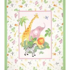 Safari Baby Quilt Panel-Elefante Craft Trapunta lettino Panel-Molle tessuto di cotone