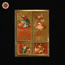 WR Japan Stamp 2016 Zodiac Nippon New Year of Monkey Gold Foil Stamp Collection