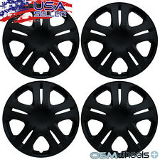 "4 NEW OEM MATTE BLACK 15"" HUB CAPS FITS KIA SUV CAR COUPE CENTER WHEEL COVER SET"