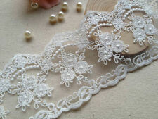 White color Victoria Lace/fabric Vintage embroidery lace  - price for 1 yard