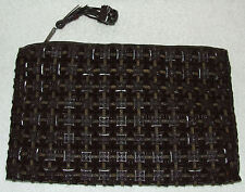 VINTAGE 1940'S LARGE PLASTICFLEX BAKELITE TILE PURSE HANDBAG CLUTCH ROCKABILLY