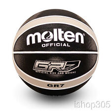 Molten GR7-KS Premium Rubber Outdoor Basketball Official Size 7 Black/Silver