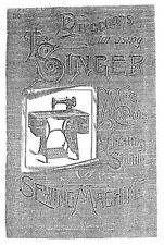 Singer 2VS Sewing Machine/Embroidery/Serger Owners Manual