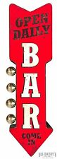 Open Daily Bar Sign LED Marquee Off The Wall Metal Vintage Style Bar Man Cave