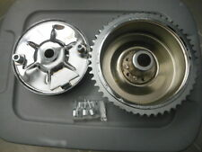 Harley Davidson Knucklehead Panhead Rear Mechanical Brake Drum Kit Chrome