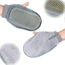 Pet Grooming Glove Brush Dog and for Cat Shedding Bathing Sponge Trimmer Groomer