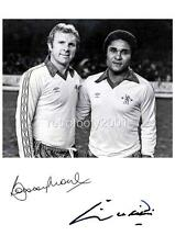 Eusebio and Bobby Moore Signed Reprint at Chelsea FC 1980 Testimonial A4 Print