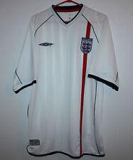 England National Team home shirt 01/03 Umbro Beckham Shearer Owen