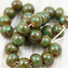 """32/0 AQUA WITH WHITE HEART / HEAVY PICASSO CZECH SEED BEADS - 6"""""""