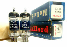 Matched Codes PAIR MULLARD Valves Tubes NOS EF91 6AM6 CV138 Z77 Little Dot I 1