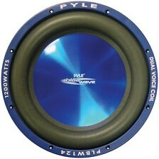 "Pyle PLBW124 Subwoofer 12"" Blue Wave 1200 Watts; DVC; 70Oz Magnet"