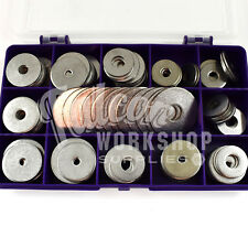 150 ASSORTED PIECE, A4 MARNIE STAINLESS PENNY REPAIR WASHERS M4 M5 M6 M8 M10 KIT